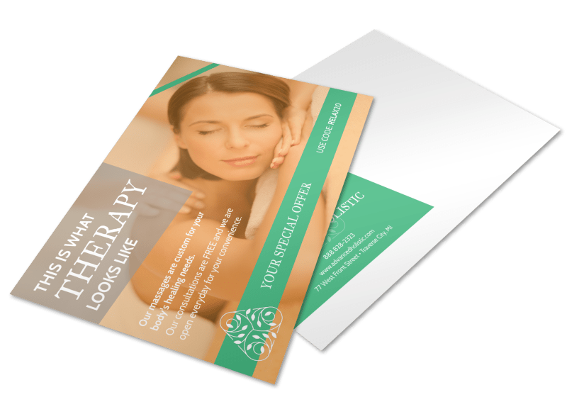 Holistic Physical Therapy Postcard Template Preview 1