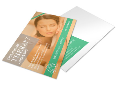 Holistic Physical Therapy Postcard Template preview