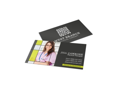 camrose physical therapy business card template mycreativeshop - Photo Business Cards