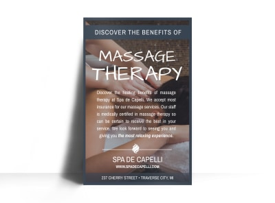 Massage Therapy Poster Template