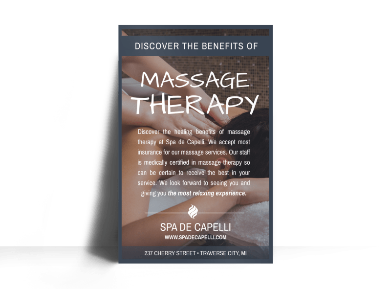 Massage Therapy Poster Template Preview 1