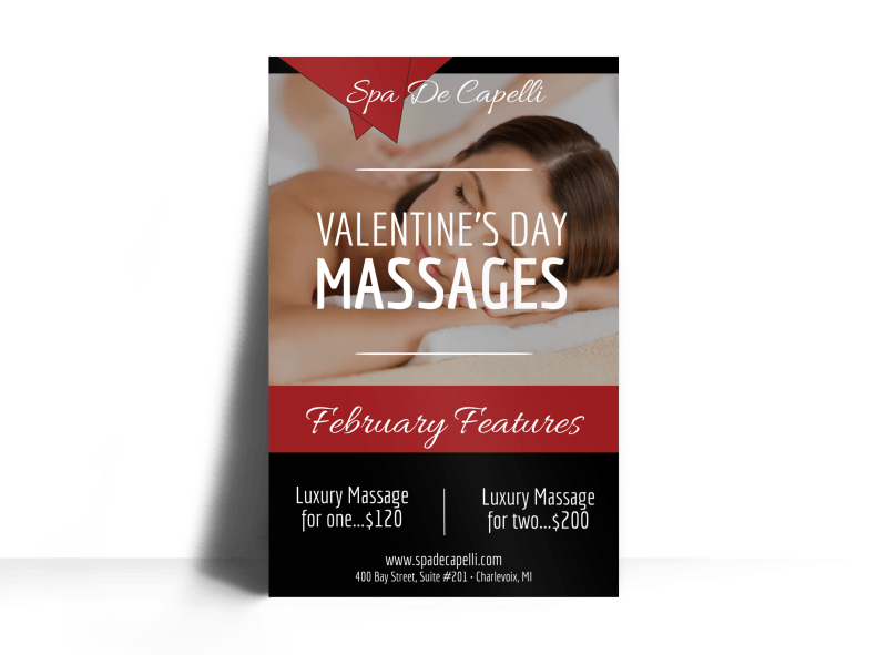 Valentine's Day Massage Poster Template Preview 1