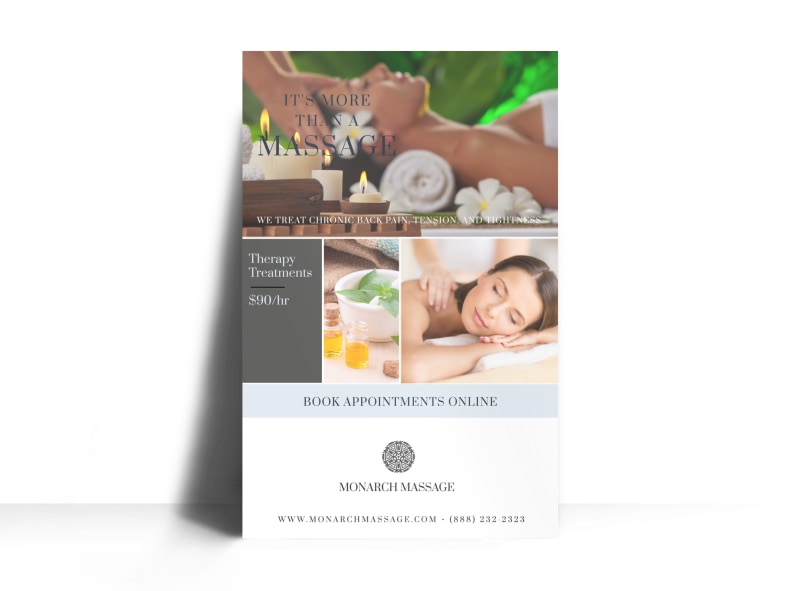 Massage Special Offer Poster Template