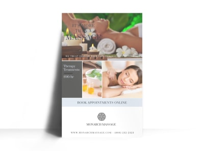 Massage Special Offer Poster Template preview