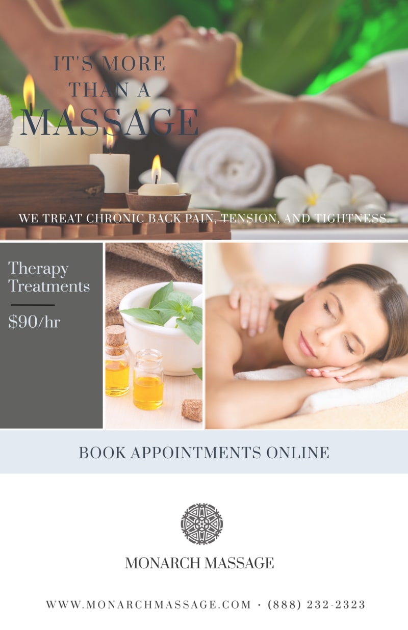 Massage Special Offer Poster Template Preview 2