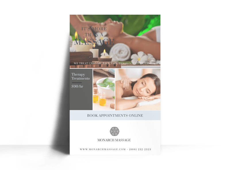 Massage Special Offer Poster Template Preview 1