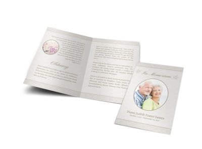 Memorial Service Funeral Program Bi-Fold Brochure Template preview