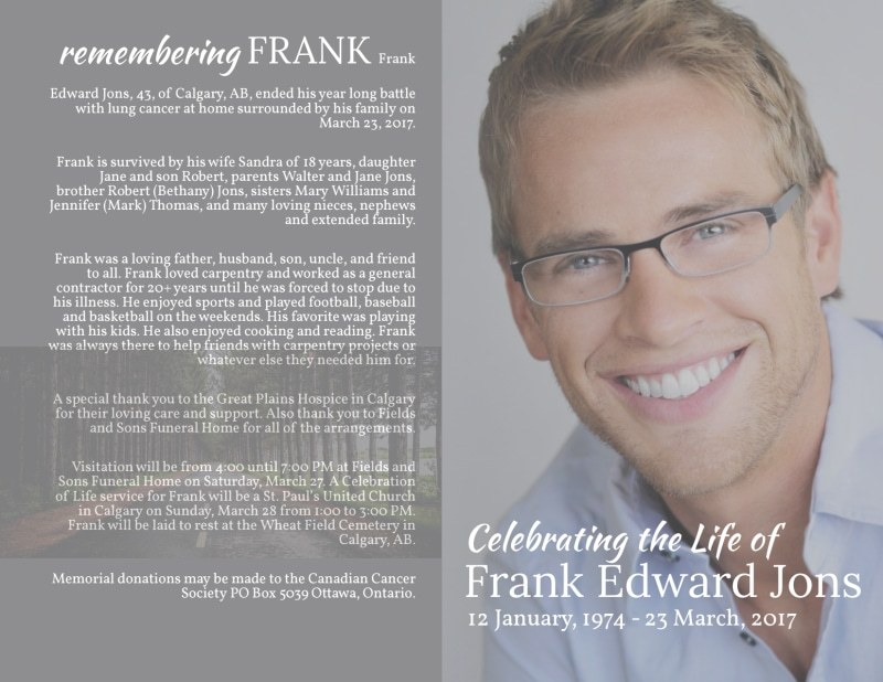 Celebration Of Life Bi-Fold Brochure Template Preview 2