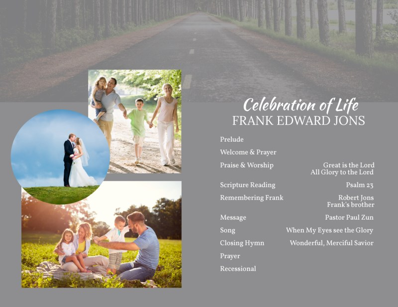 Celebration Of Life Bi-Fold Brochure Template Preview 3