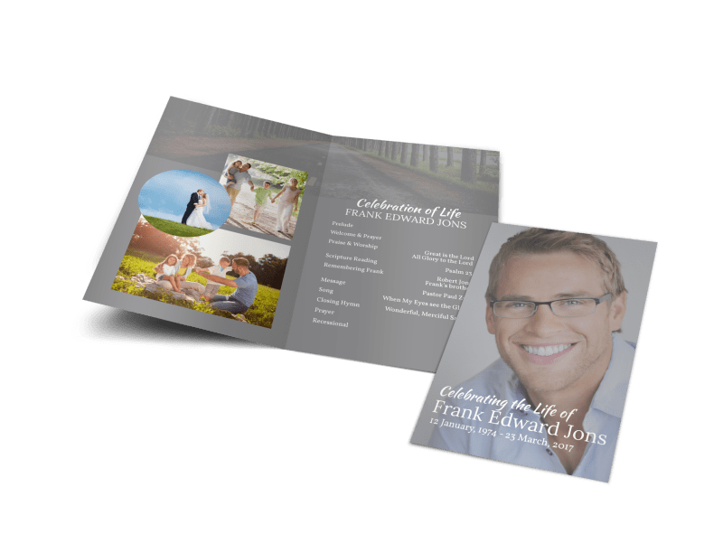 Celebration Of Life Bi-Fold Brochure Template Preview 1