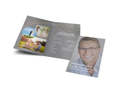 Celebration Of Life Bi-Fold Brochure Template preview