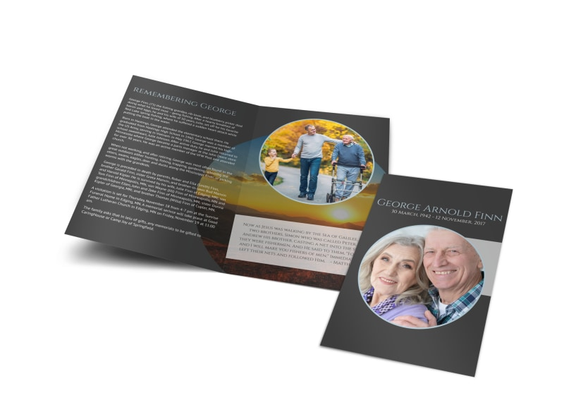 Obituary Bi-Fold Brochure Template