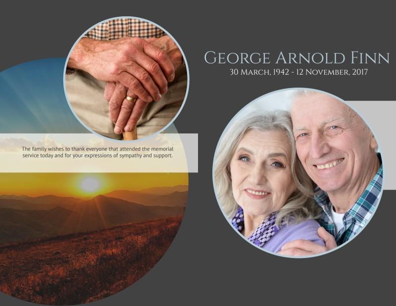 Obituary Bi-Fold Brochure Template Preview 2
