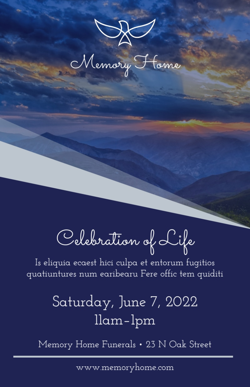 Funeral Celebration Of Life Flyer Template Preview 3