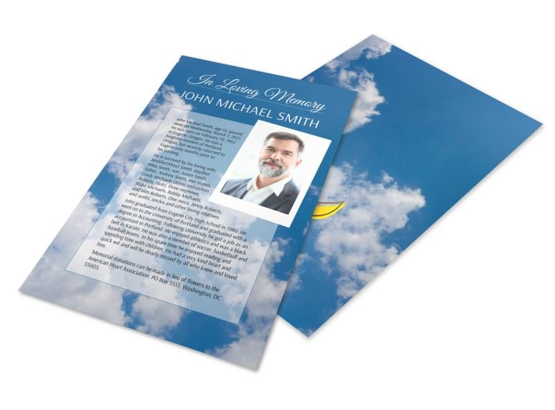 funeral memorial flyer template mycreativeshop