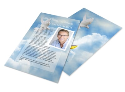 Funeral Obituary Flyer Template preview