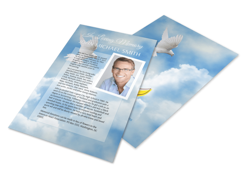 Funeral Obituary Flyer Template Preview 1