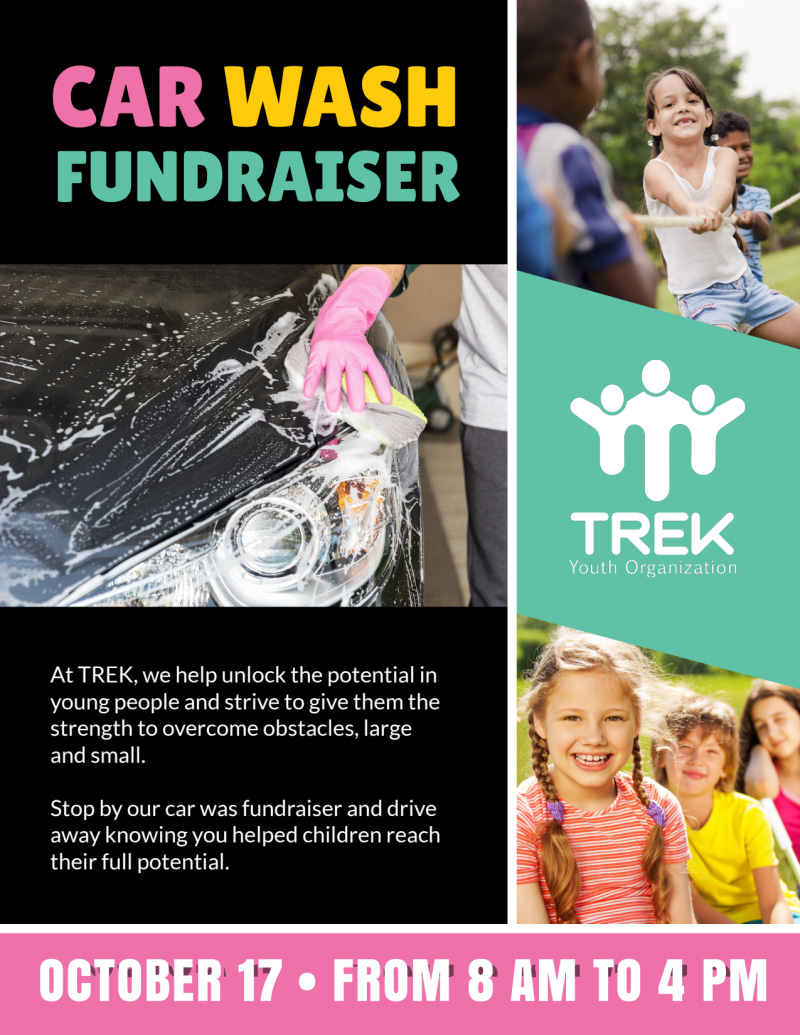 Youth Car Wash Fundraiser Flyer Template Preview 3