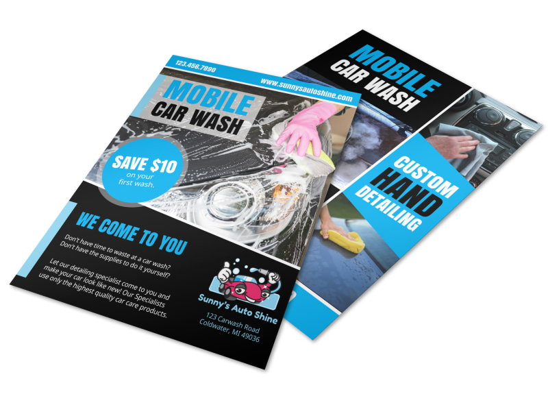 Mobile Car Wash Flyer Template  Mycreativeshop