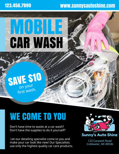 Mobile Car Wash Flyer Template Preview 1