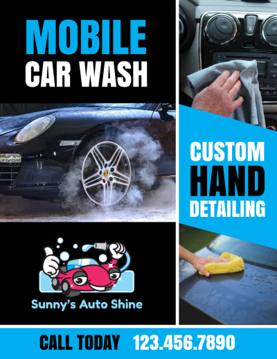 Mobile Car Wash Flyer Template Preview 2