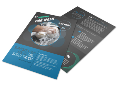 Youth Car Wash Flyer Template preview