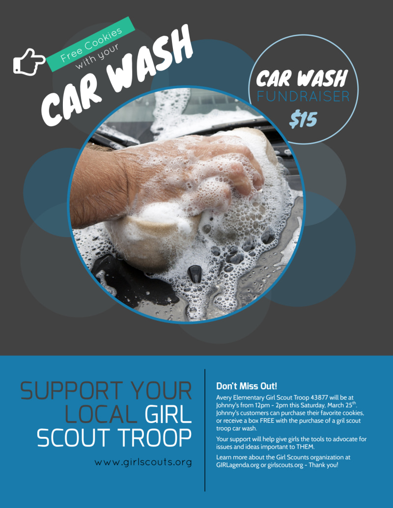 Youth Car Wash Flyer Template Preview 2