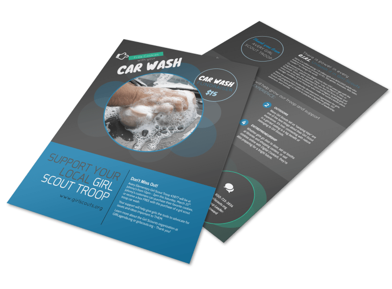 Youth Car Wash Flyer Template Preview 1