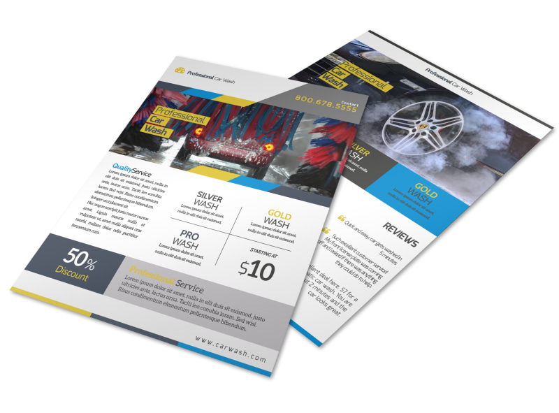 Professional Car Wash Service Flyer Template