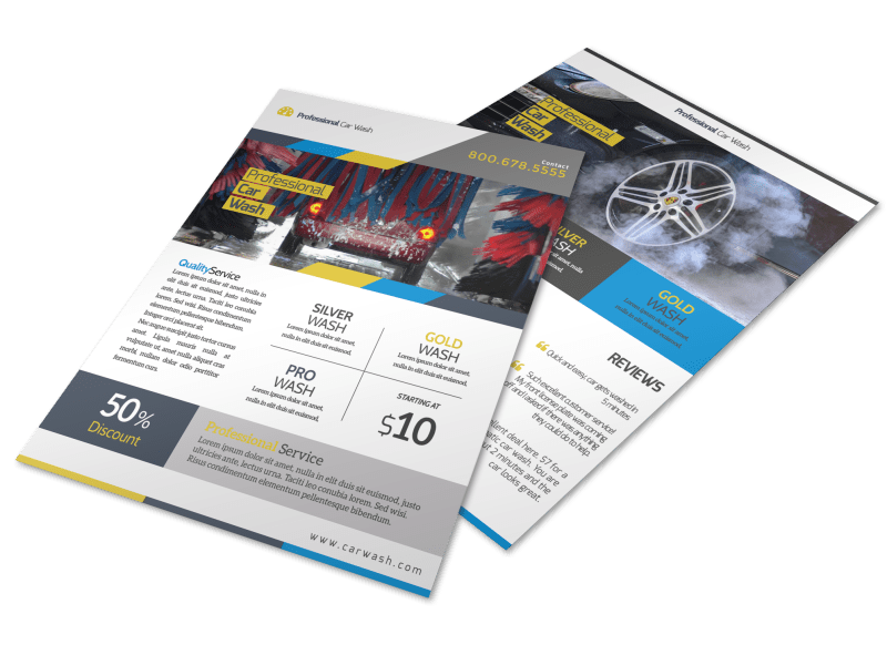 Professional Car Wash Service Flyer Template Preview 1