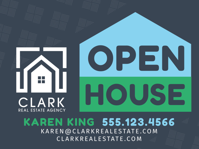 Real Estate Open House Yard Sign Template Preview 2