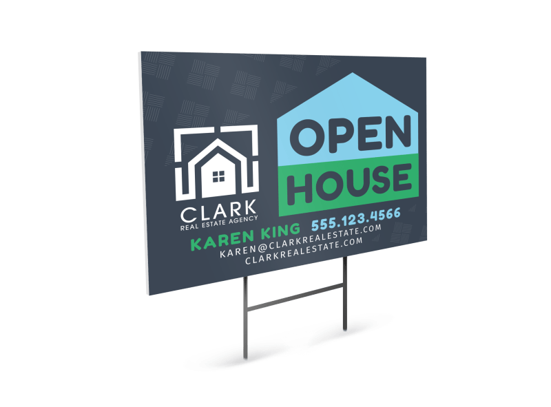 Real Estate Open House Yard Sign Template Preview 1