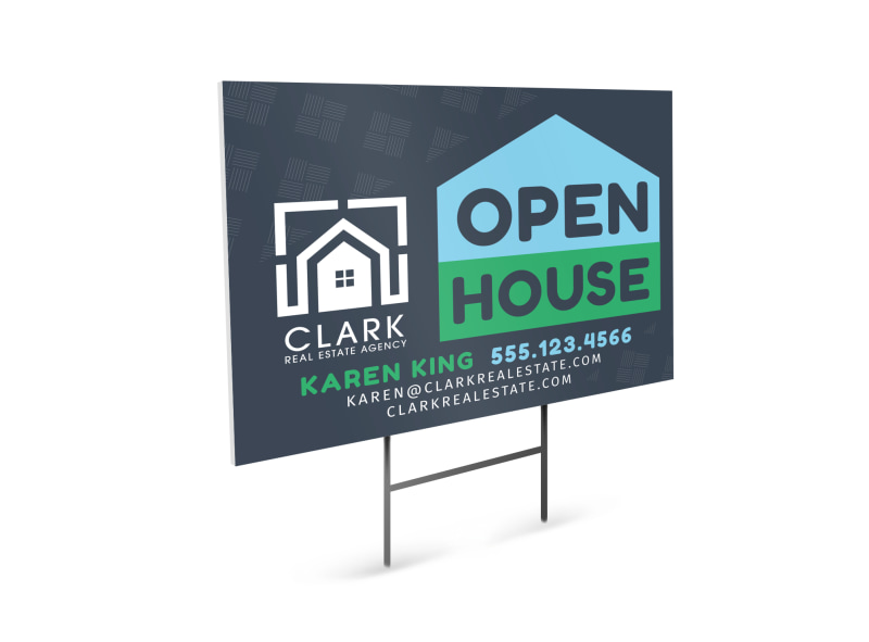 Real Estate Open House Yard Sign Template