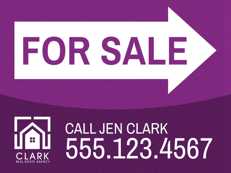 Real Estate For Sale Yard Sign Template Preview 2