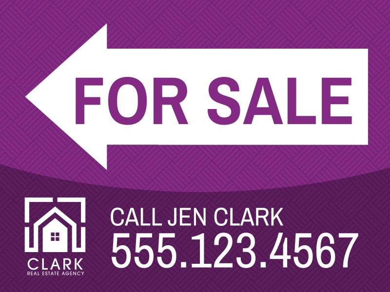 Real Estate For Sale Yard Sign Template Preview 3