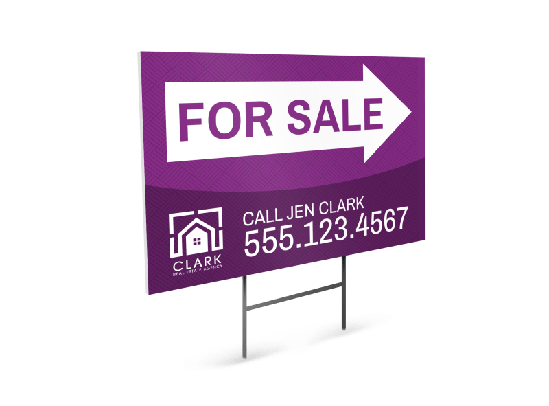 Real Estate For Sale Yard Sign Template Preview 1