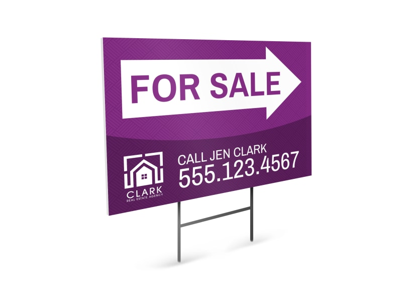 Real Estate For Sale Yard Sign Template
