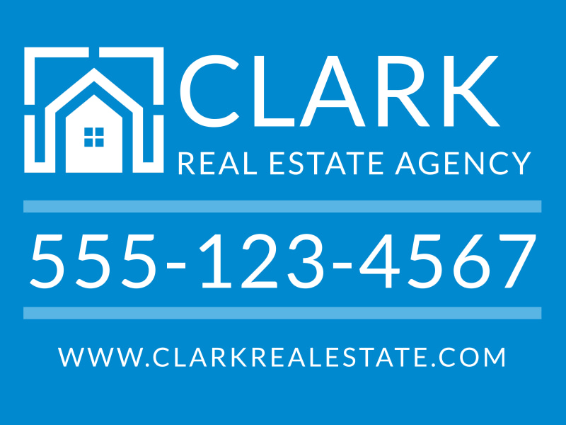 Real Estate Agency Yard Sign Template Preview 2