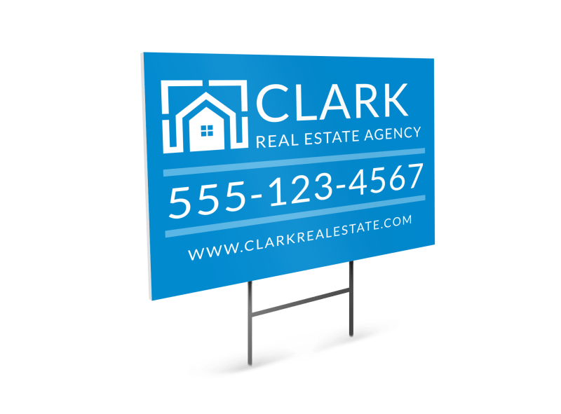 Real Estate Agency Yard Sign Template Preview 1