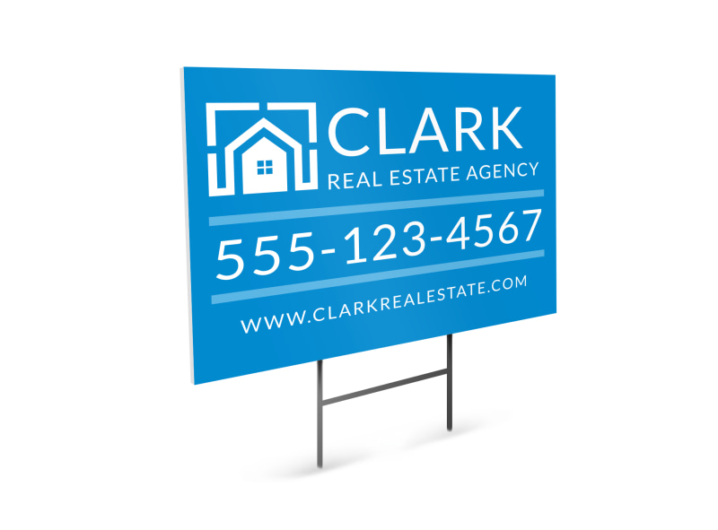 Real Estate Agency Yard Sign Template Preview 4