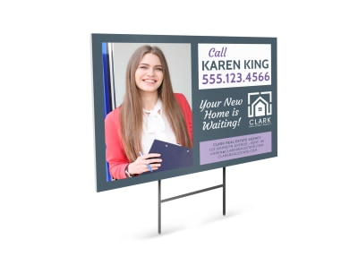 Professional Real Estate Agent Yard Sign Template preview