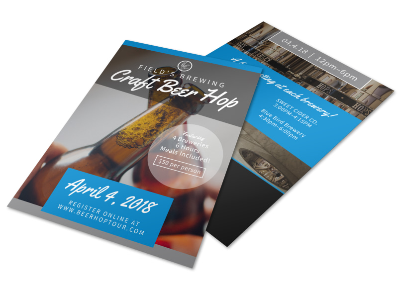 Field's Brewery Tour Flyer Template Preview 4