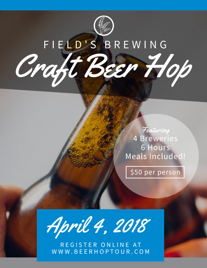 Field's Brewery Tour Flyer Template Preview 2