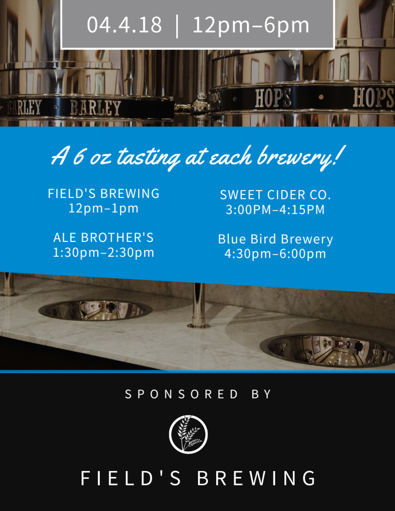 Field's Brewery Tour Flyer Template Preview 3
