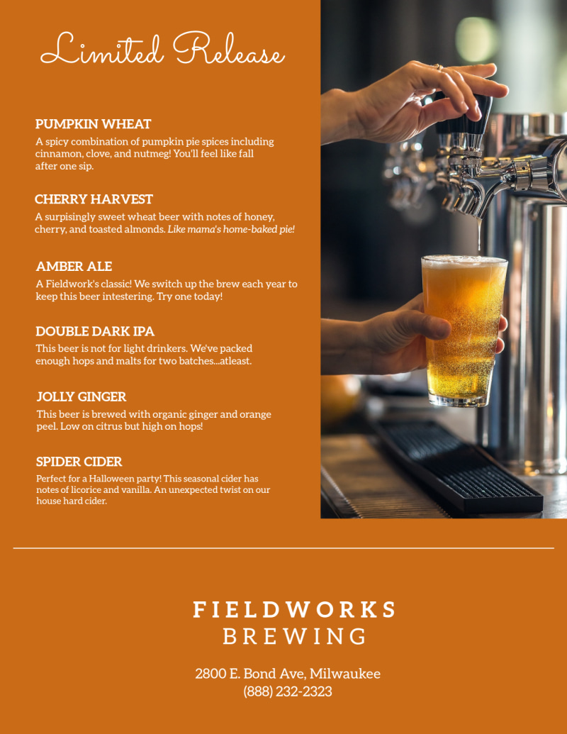Brewery Featured Beer Flyer Template Preview 3