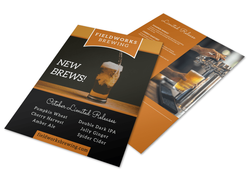 Brewery Featured Beer Flyer Template Preview 1