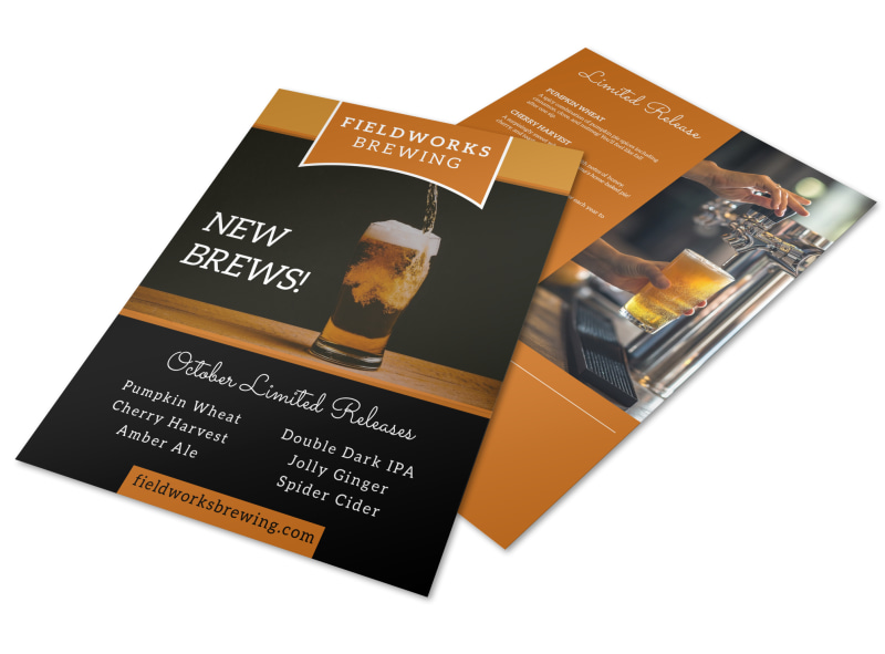 Brewery Featured Beer Flyer Template Preview 4
