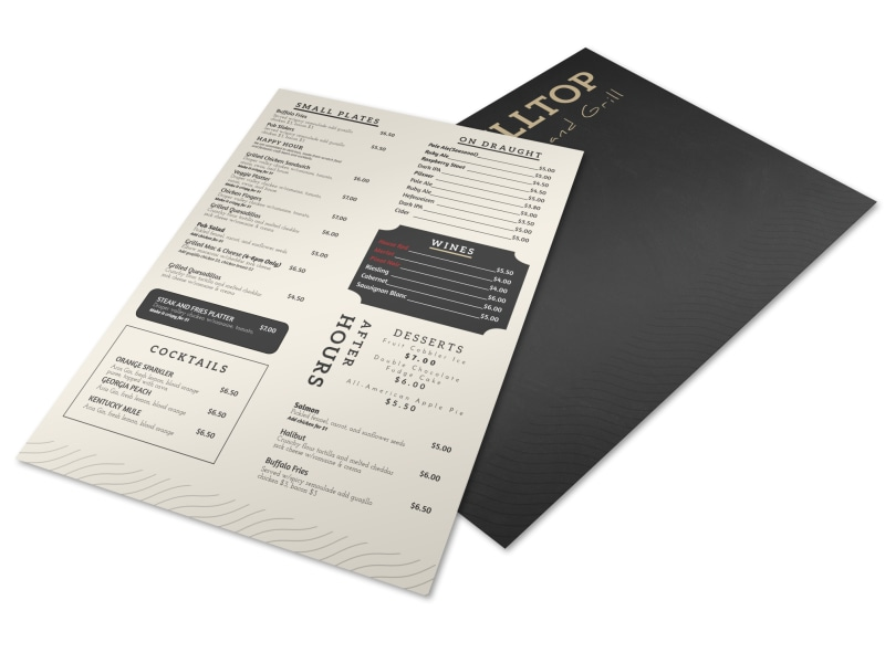 Brewery Menu Flyer Template