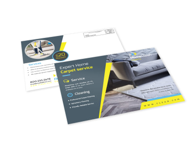 Cleaning Service EDDM Postcard Template preview
