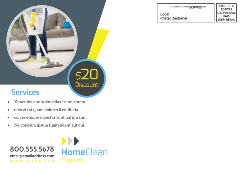 Cleaning Service EDDM Postcard Template Preview 3